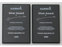 Garmin 2009 and 2008 Silver Awards